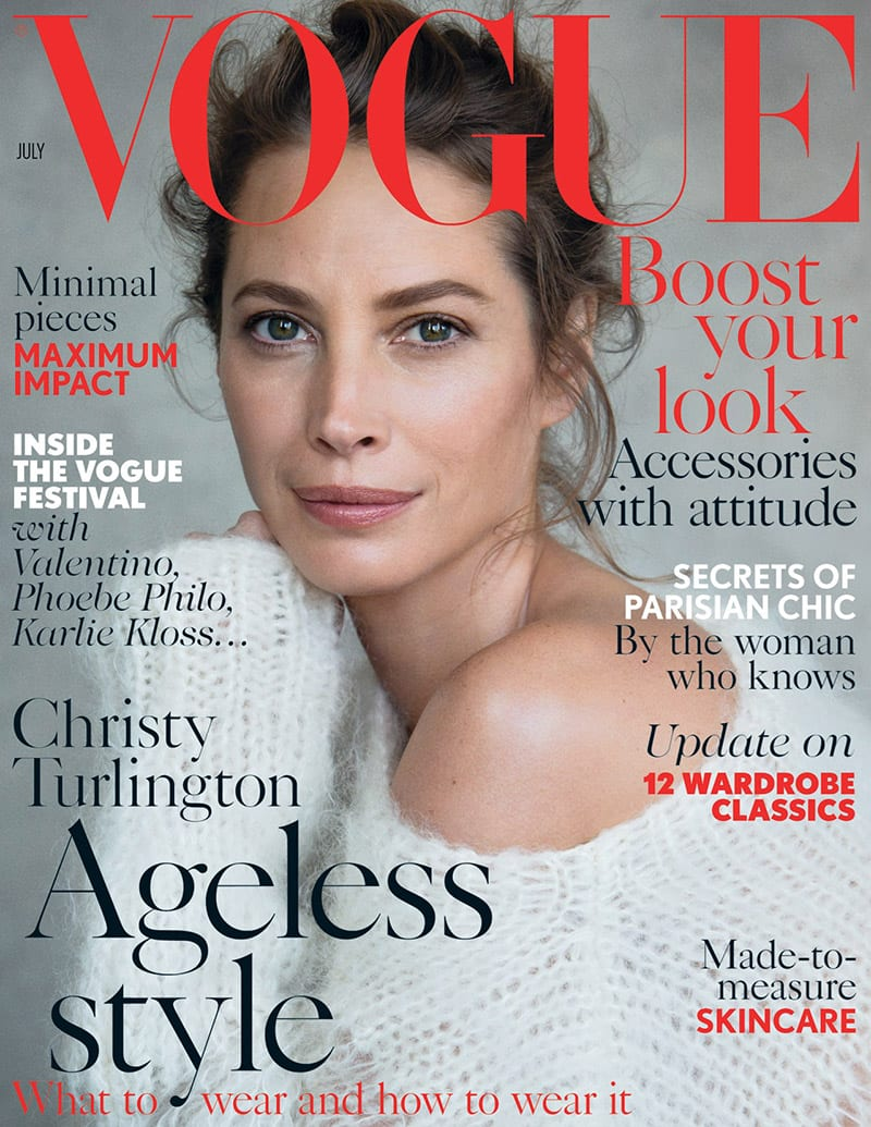 Treatments for Vertical Lip Lines - christy turlington vogue uk july 2014 cover