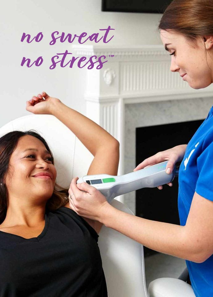 What Excessive Sweating Treatments Are Available? - no sweat no stress excessive undearm sweat treatment image